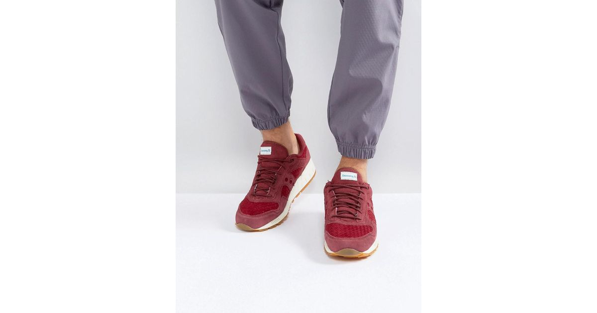 size 40 5a491 695ba Saucony Shadow 5000 Ht Weave Pack Trainers In Red S70371-3 for men