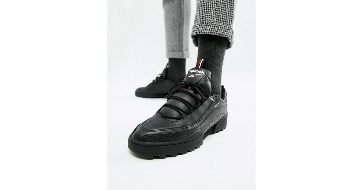4d4b0e167b251d Reebok Rivyx Ripple Trainers Black in Black for Men - Lyst
