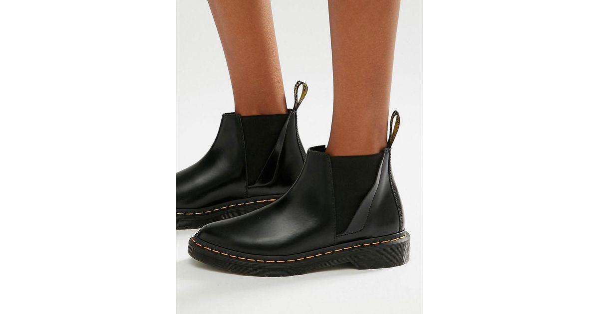 strukturelle Behinderungen New York so billig Dr. Martens Bianca Black Chelsea Boots