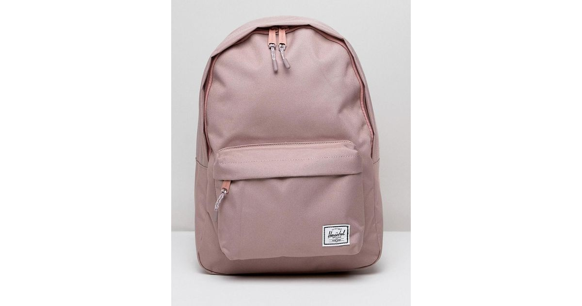 107e27fcd2e Herschel Supply Co. Herschel Classic Mid Volume Pink Backpack in Pink - Lyst