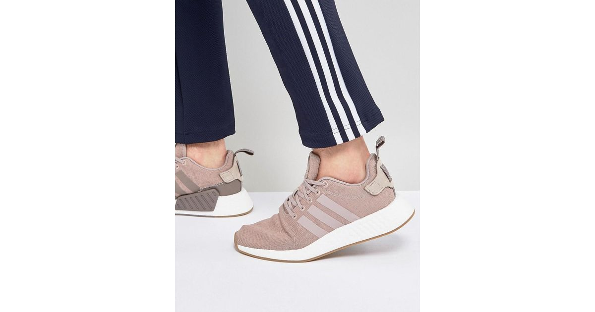 the latest 06009 d5ac9 Adidas Originals Gray Nmd R2 Sneakers In Beige Cq2399 for men
