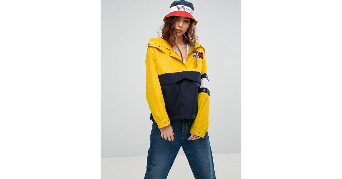dffb7f113 Tommy Hilfiger Yellow Tommy Jeans 90s Capsule Colourblock Windbreaker Jacket