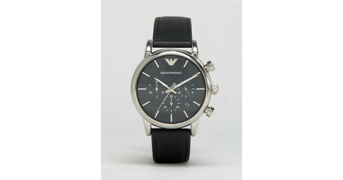 Armani Watch Ar1733 Emporio Black For Men D92HIE