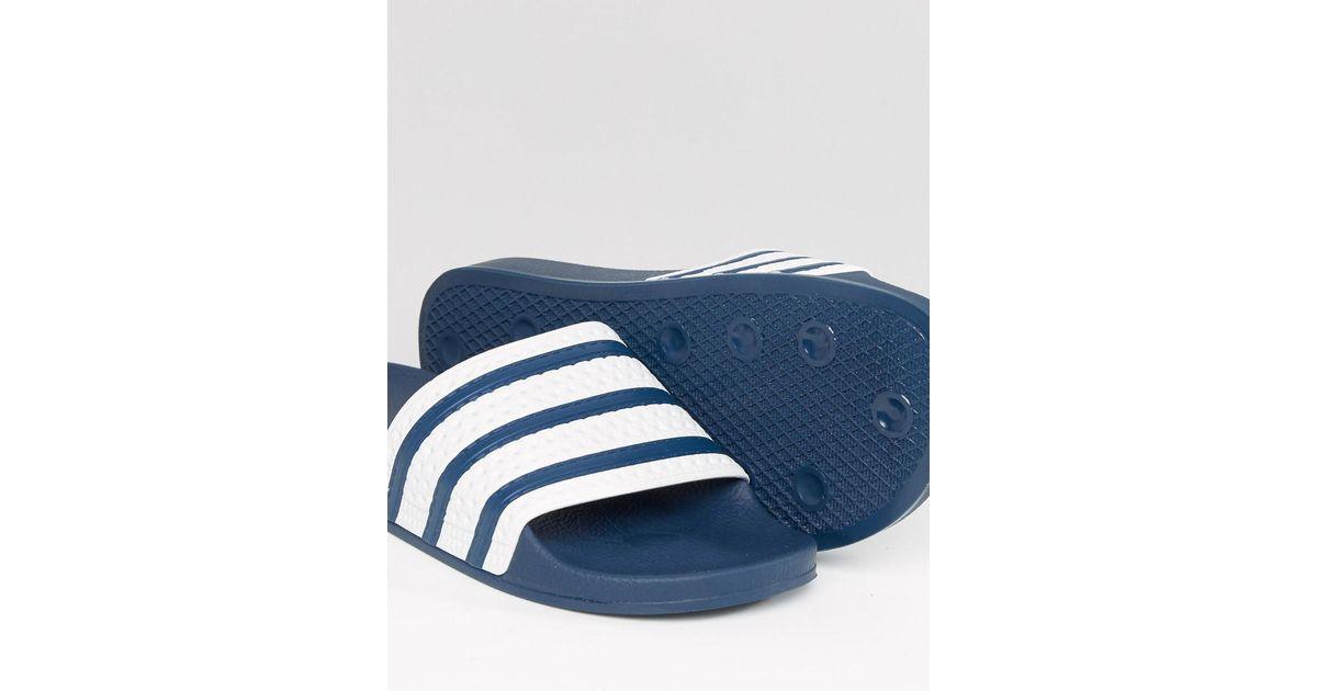 7e6be7d2a Lyst - adidas Originals Adilette Slider Flip Flops G16220 in Blue for Men -  Save 18%