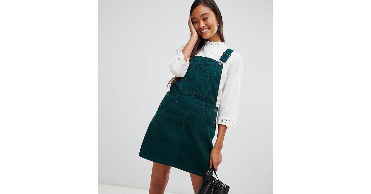 Coloris Green Miss Selfridge Robe En Chasuble Ctel Velours PwuOkXZiT