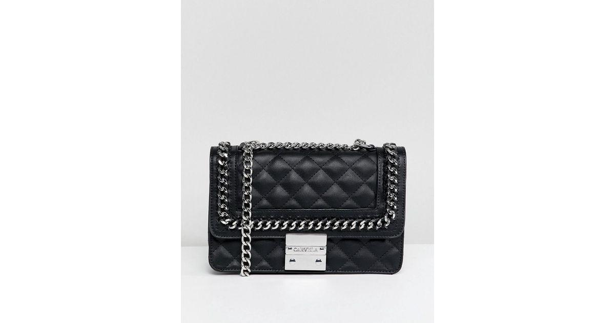 Carvela Kurt Geiger Bailey Quilted Chain Shoulder Bag in Black - Lyst 366d19aa40f1c
