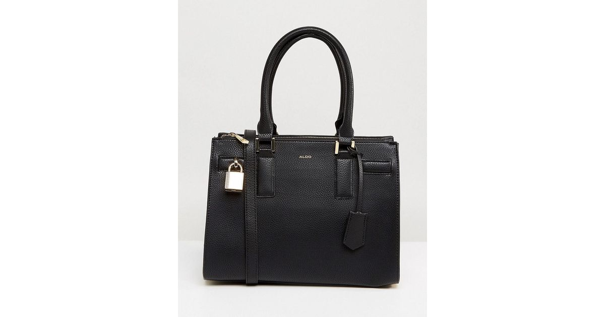 c18ca1ae8c8 ALDO Structure Tote Bag With Top Handle in Black - Lyst