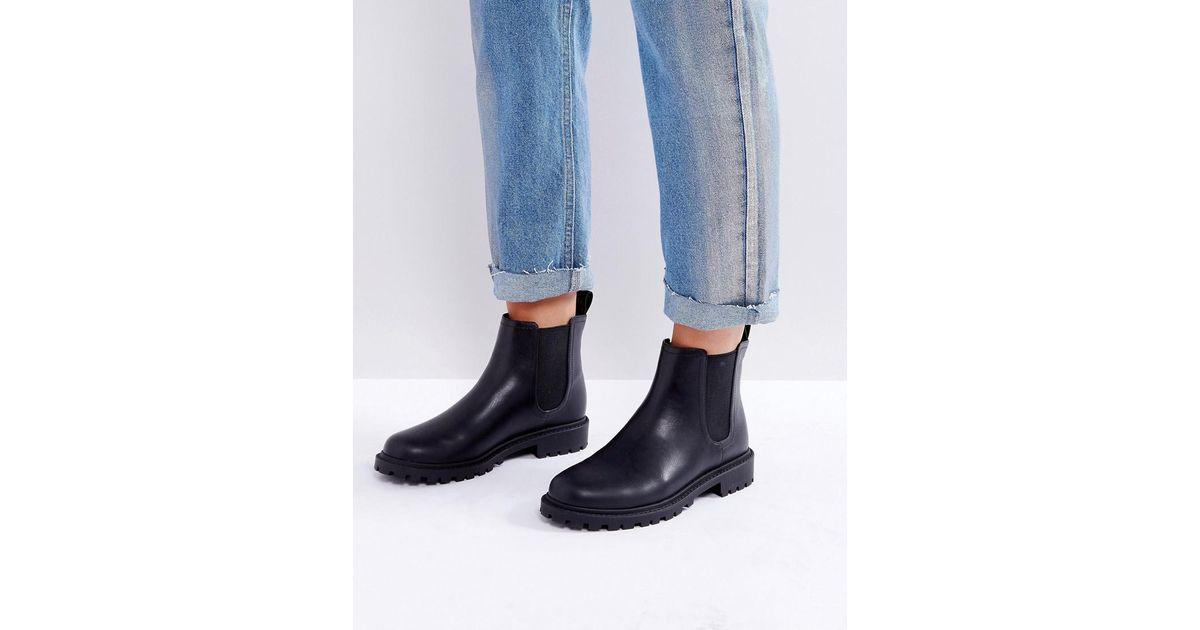 Monki Chelsea Boots in Black - Lyst