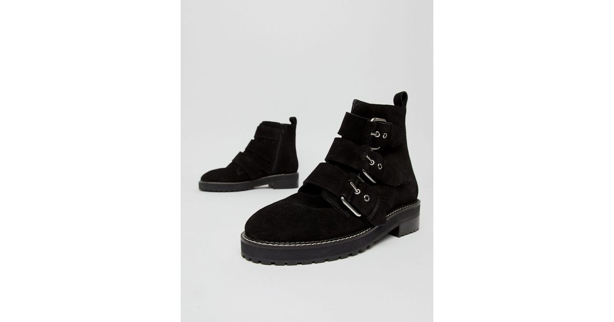Office Artillery Chunky Black Suede