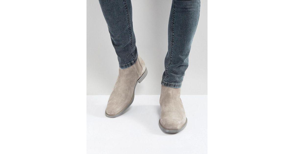 2bcb482288a ALDO Vianello Suede Chelsea Boots In Gray for men