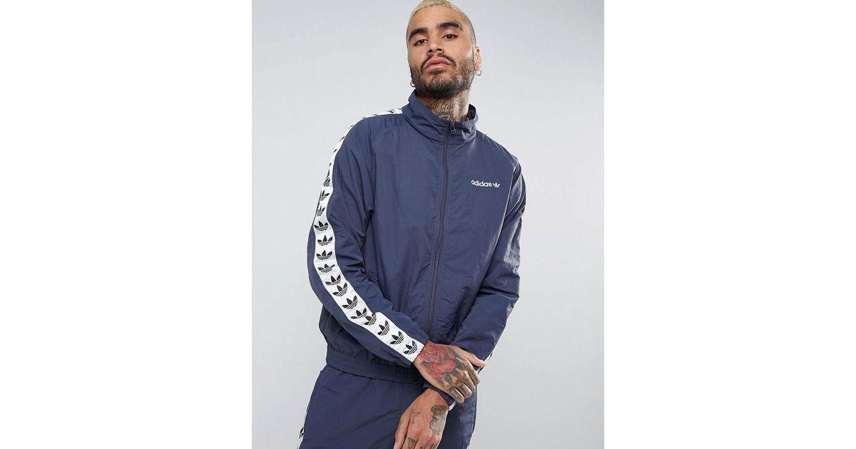 1faef3d5 Adidas Originals Adicolor Tnt Tape Wind Track Jacket In Blue Br2277 for men