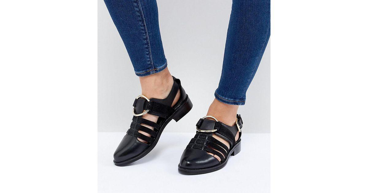 ASOS Denim Virgo Wide Fit Flat Shoes in