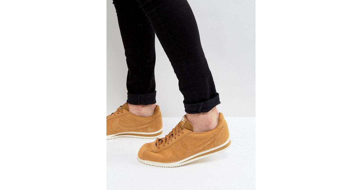 online retailer ad919 a1a14 Nike Multicolor Classic Cortez Se Sneakers In Tan 902801-700 for men