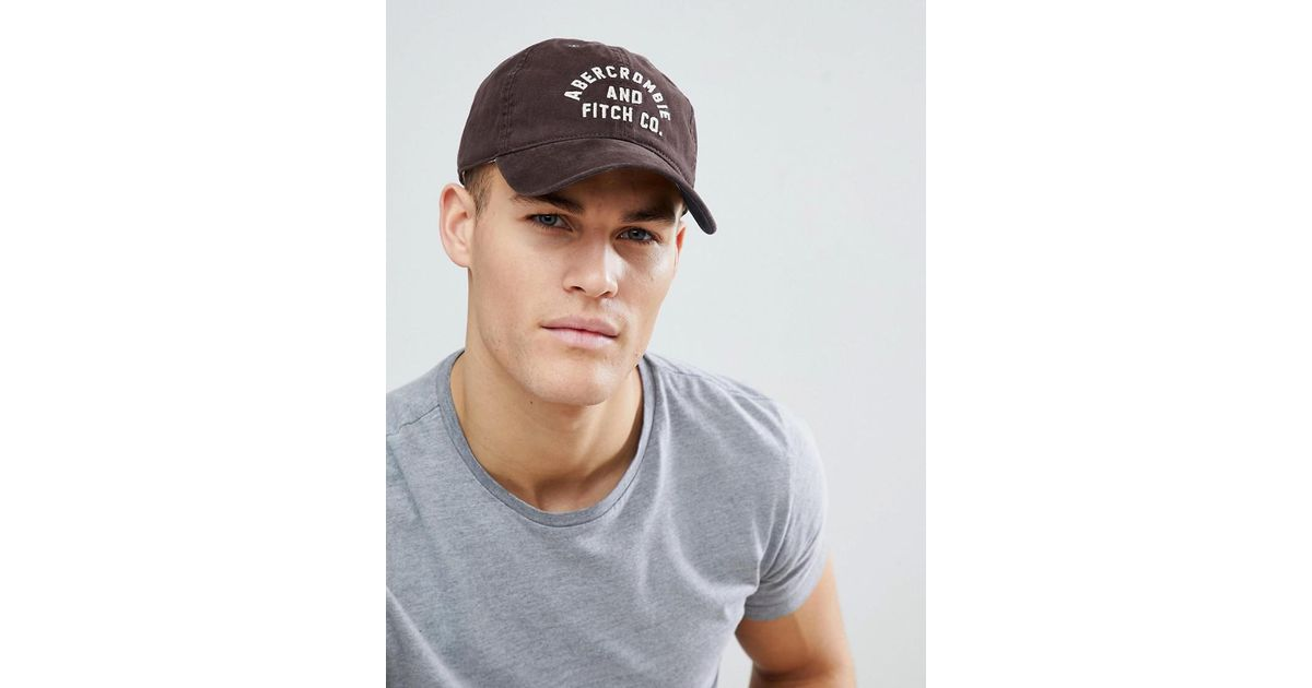 Lyst - Abercrombie   Fitch Logo Twill Baseball Cap In Burgundy in Red for  Men e08a7a043fc