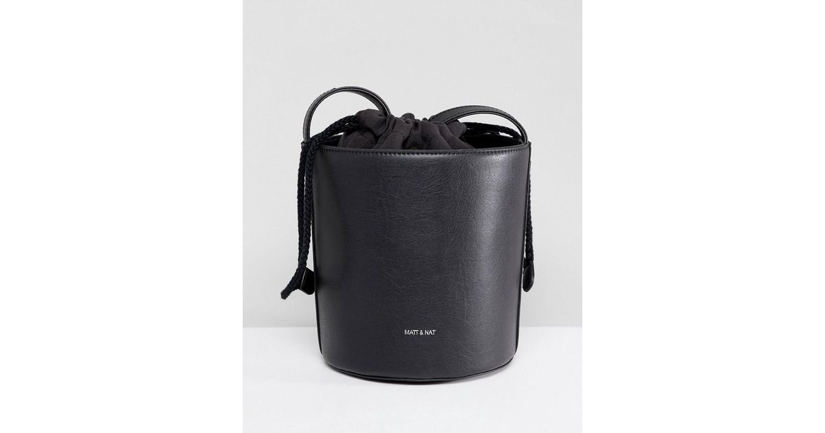 Matt & Nat Bini Structured Bucket Bag - Black Matt & Nat lpnmS