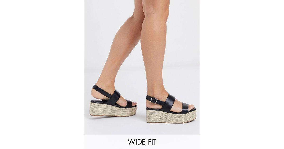 platform espadrilles wide fit