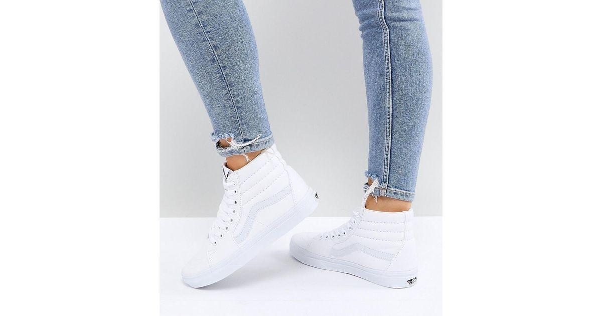 2zapatillas vans mujer blancas altas