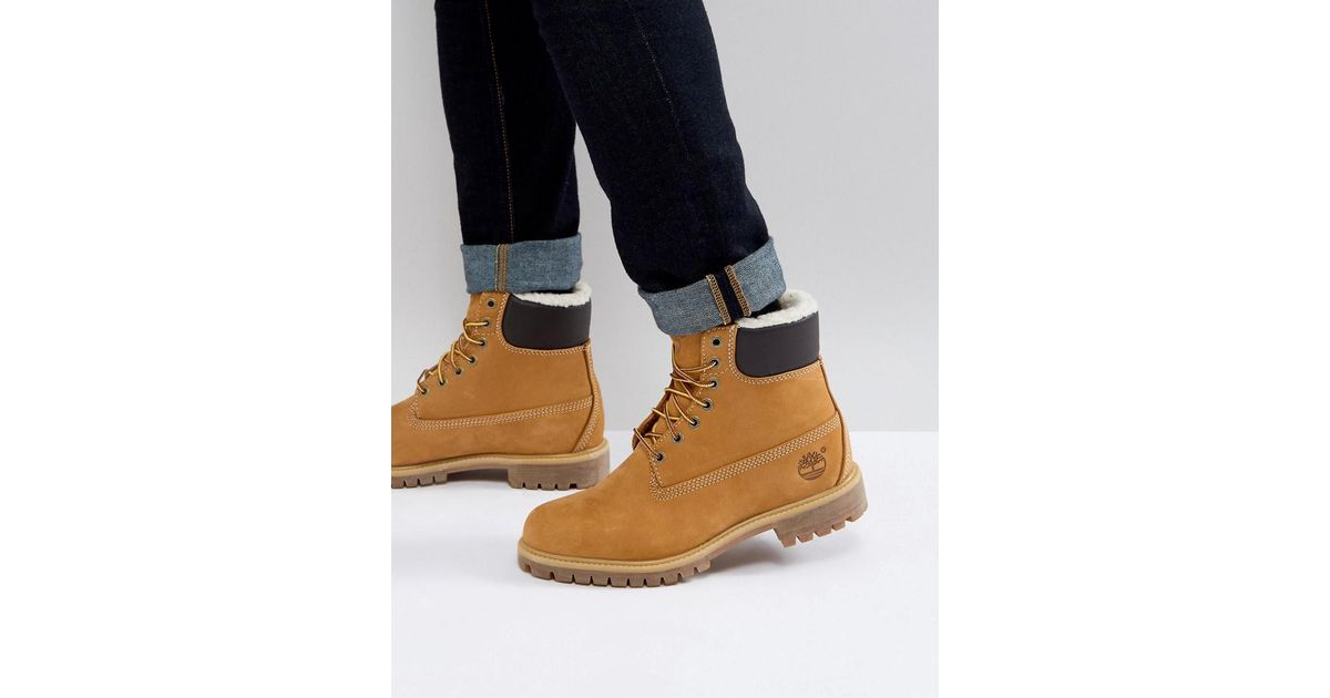 100% quality new lower prices new high quality Timberland Brown Heritage 6 Inch Premium Grain Leather Boots for men