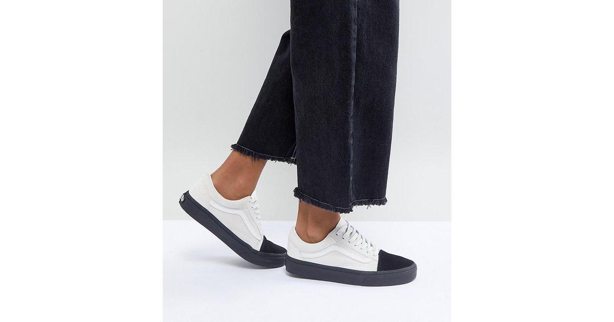 1cfaa7bbfd Vans Old Skool Unisex Sneakers In Colour Block Suede - Lyst