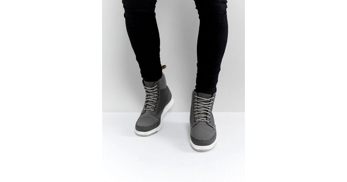 US Men/'s 8, Mid Gray // Black Dr Martens Rigal Knit Boot
