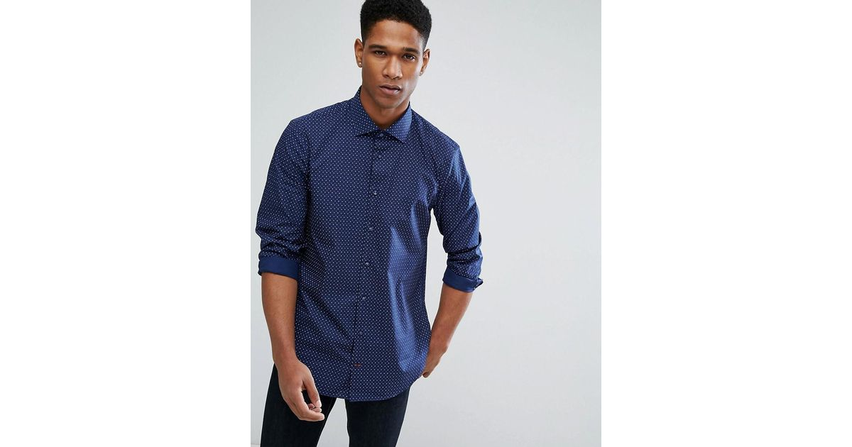 d9ca2e80c80f7 Lyst - Tommy Hilfiger Slim Fit Shirt in Blue for Men