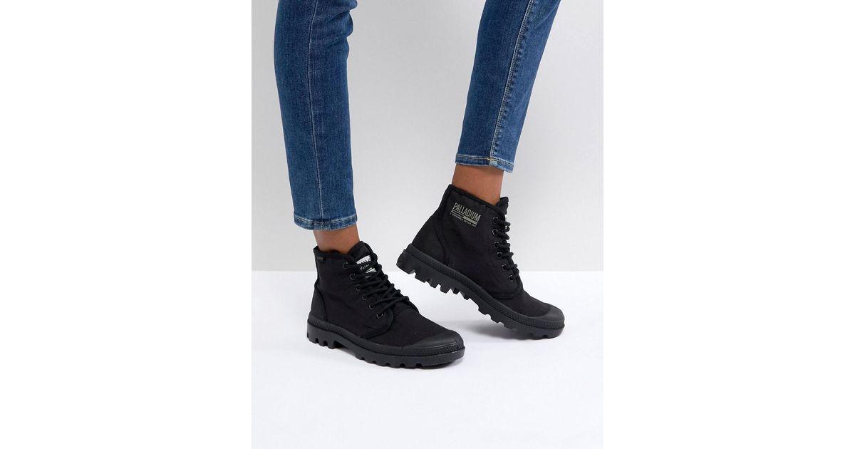 Pampa Hi Originale TC Black Canvas Flat Ankle Boots - Black Palladium Discount Lowest Price Clearance Really G2EHz