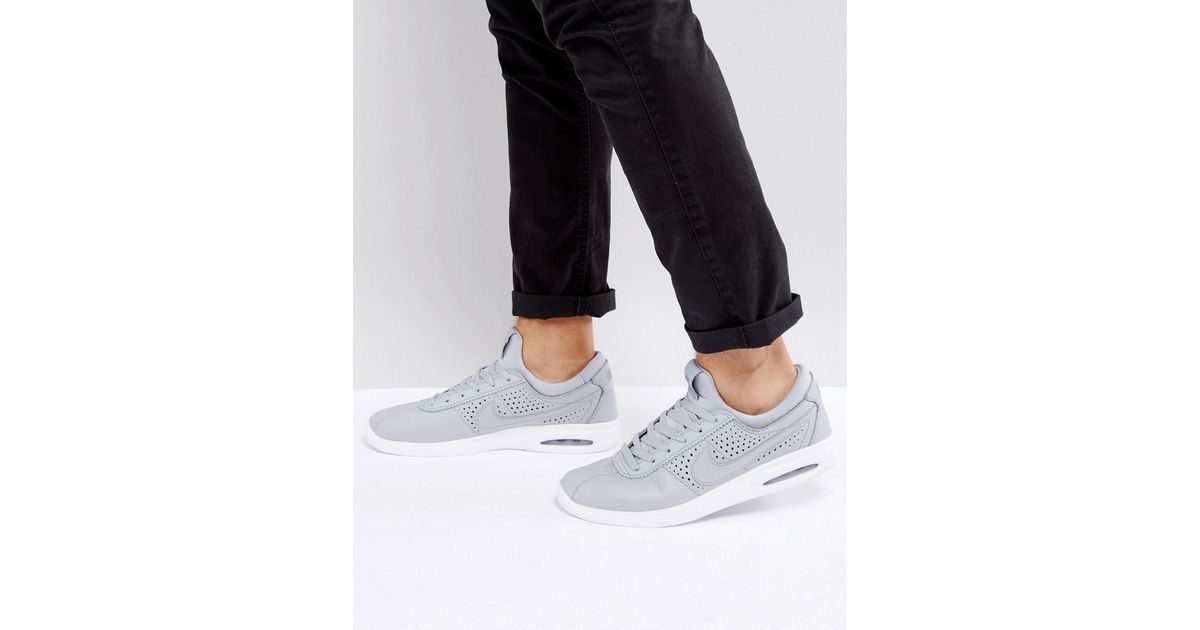 Lyst - Nike Stefan Janoski Max Leather Trainers In Grey 685299-012 in Gray  for Men