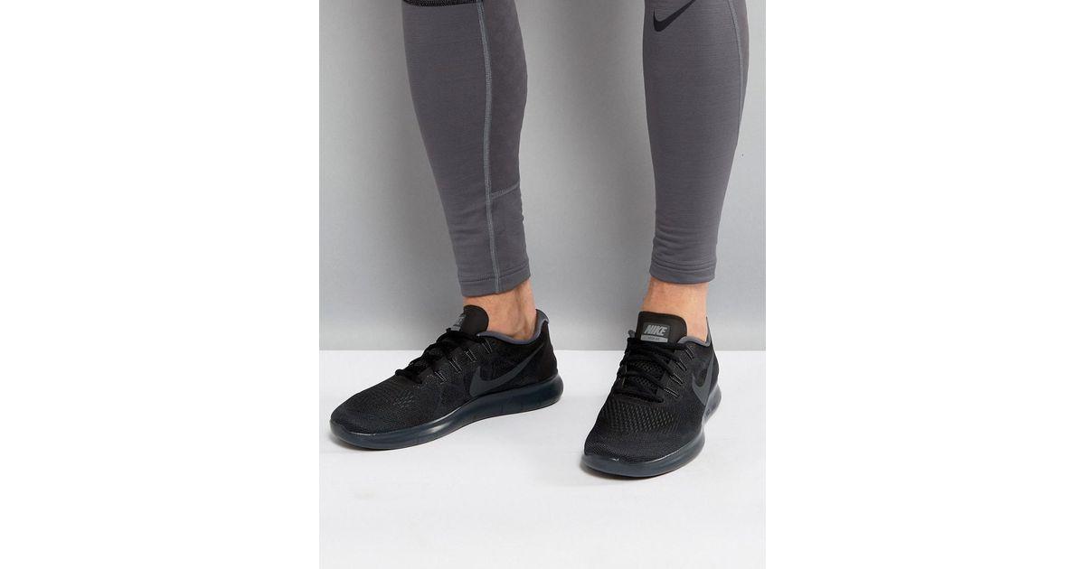 ee294479a0964 ... germany nike nike free run 2 trainers in black 880839 003 in black for  men lyst