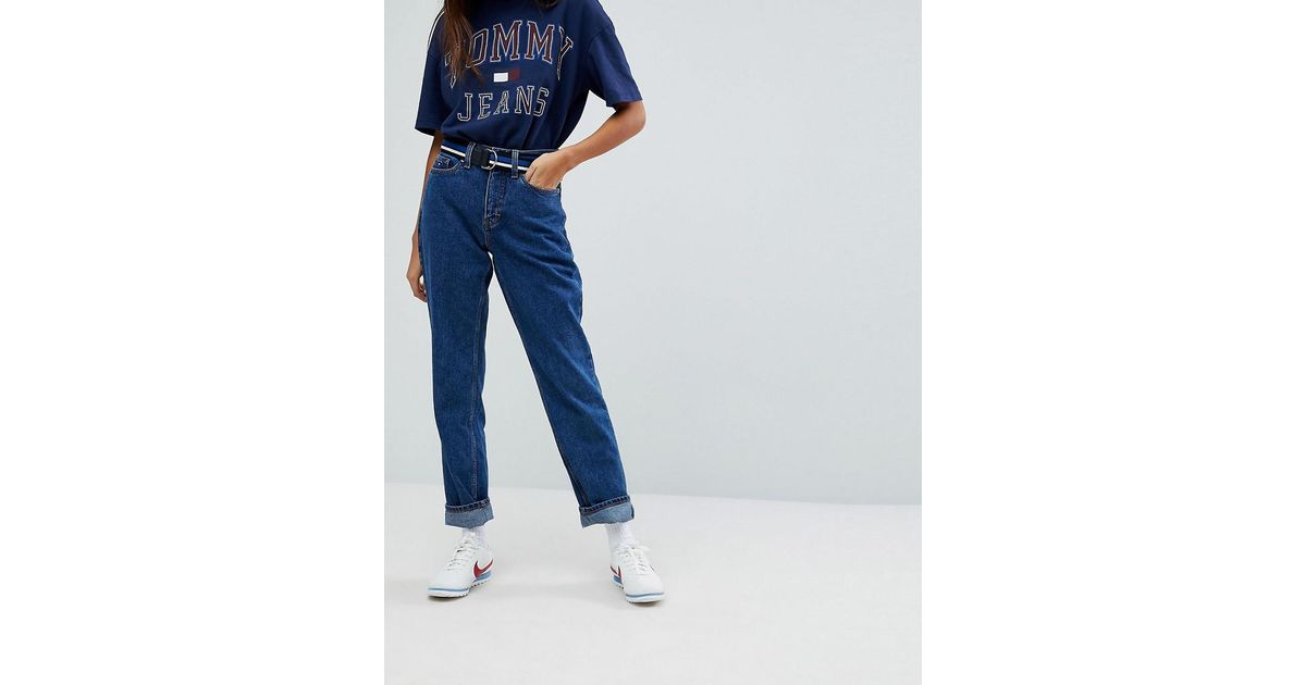 86c72f32 Tommy Hilfiger Tommy Jeans 90s Capsule Mom Jean in Blue - Lyst