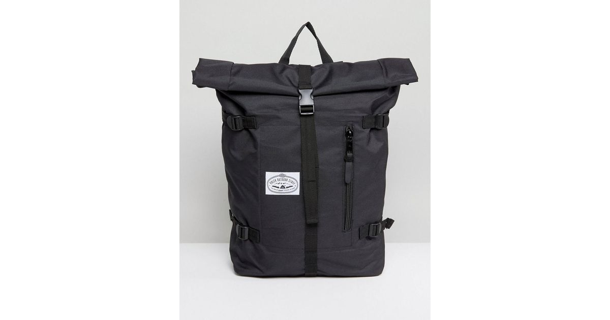 64a518504 Poler Classic Rolltop Backpack In Black in Black for Men - Lyst