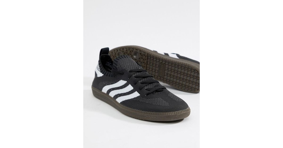 new arrivals c654d 5f81c Herrenschuhe Adidas Originals Samba PK Sock Primeknit Black White CQ2218  shoes trainers