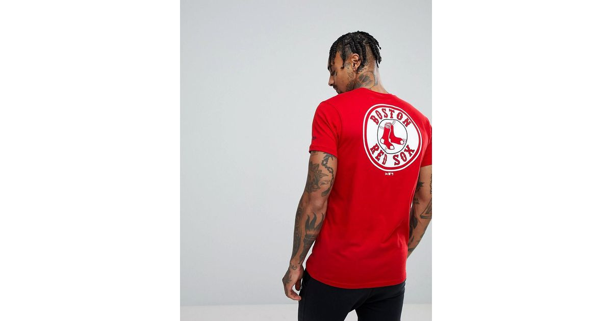 97514d7b KTZ Boston Red Sox T-shirt With Back Print in Red for Men - Lyst