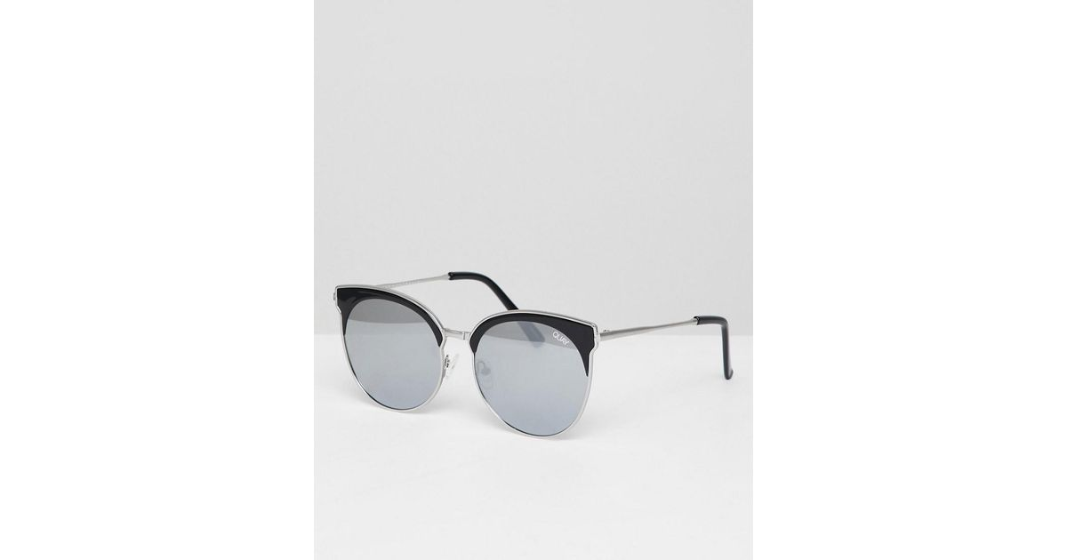 536439739a Lyst - Quay Miabella Round Sunglasses in Black