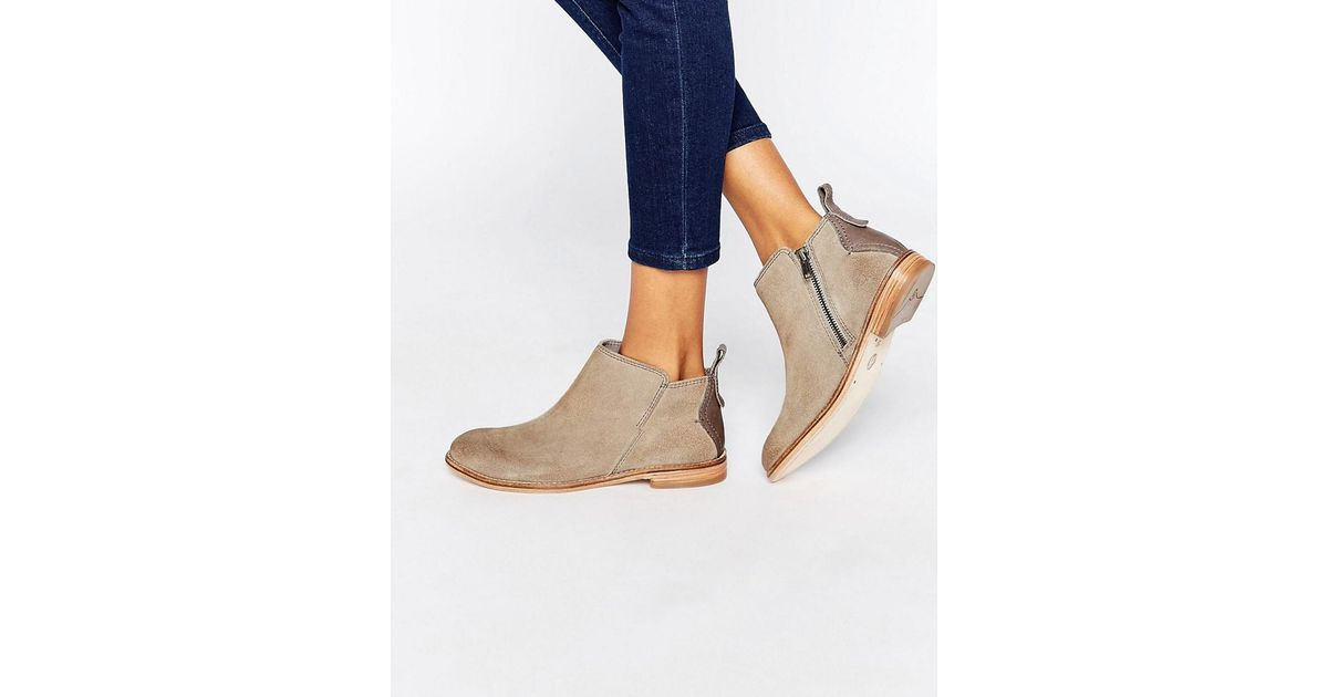 b68d0cd16be67 Lyst - H by Hudson Revelin Gray Suede Ankle Boots in Gray