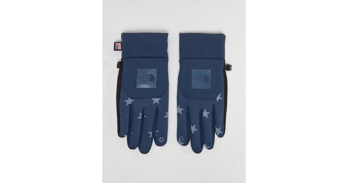 2a53086cf The North Face International E-tip Gloves In Blue Star Print for men