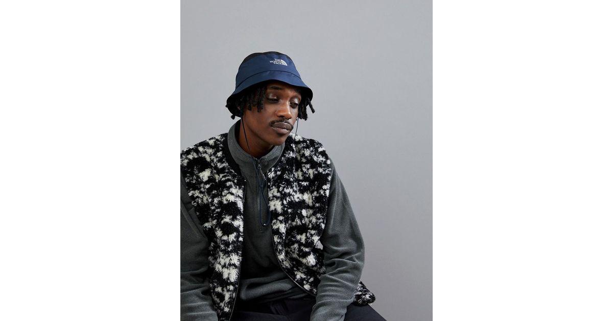 Lyst - The North Face Goretex Warerproof Bucket Hat In Black navy in Black  for Men f301dece10f3