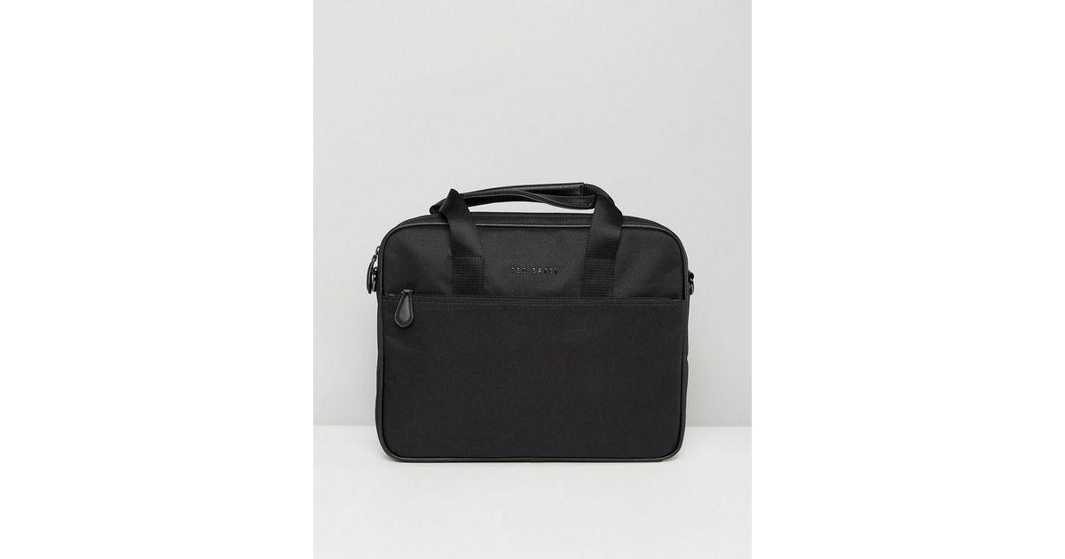 b563aabb1288 Ted Baker Black Stamp Laptop Bag for men