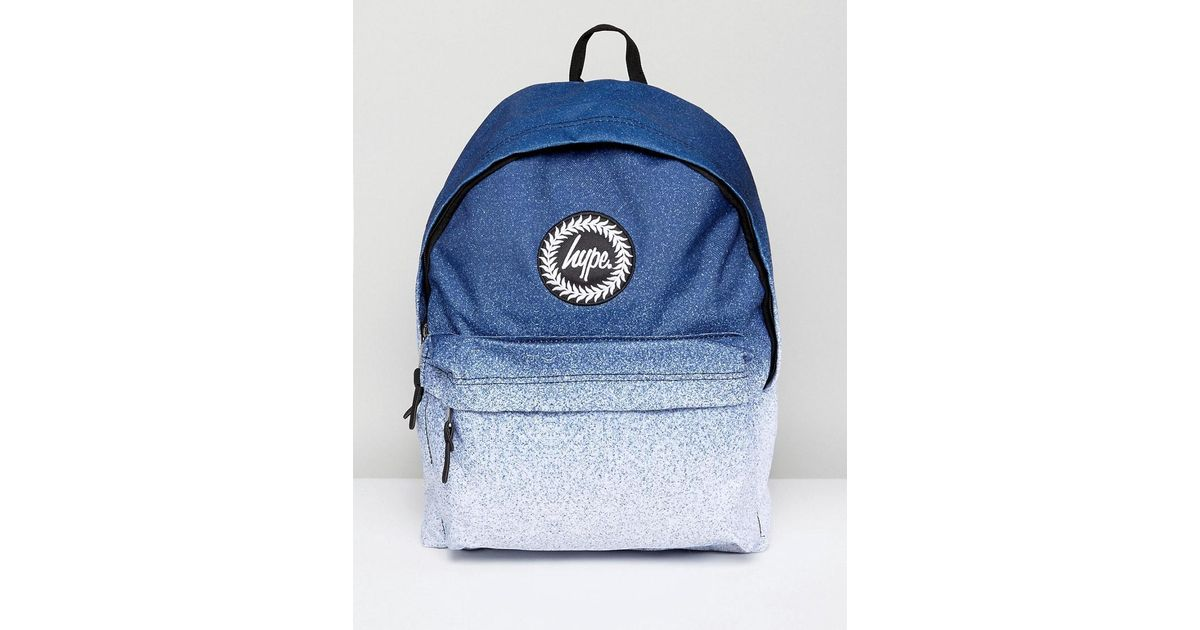 authentic quality first look where to buy Hype Synthetic Backpack In Blue Fade for Men - Lyst