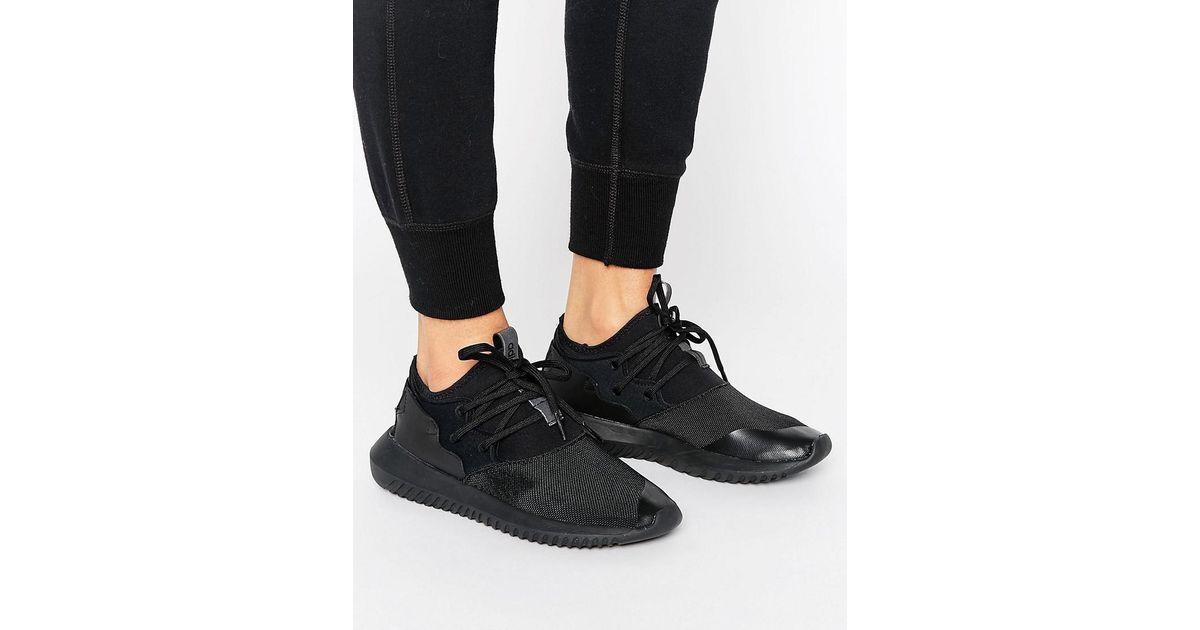 sale retailer 017b0 c3de3 Adidas Originals Originals Black Tubular Entrap Sneakers In Black