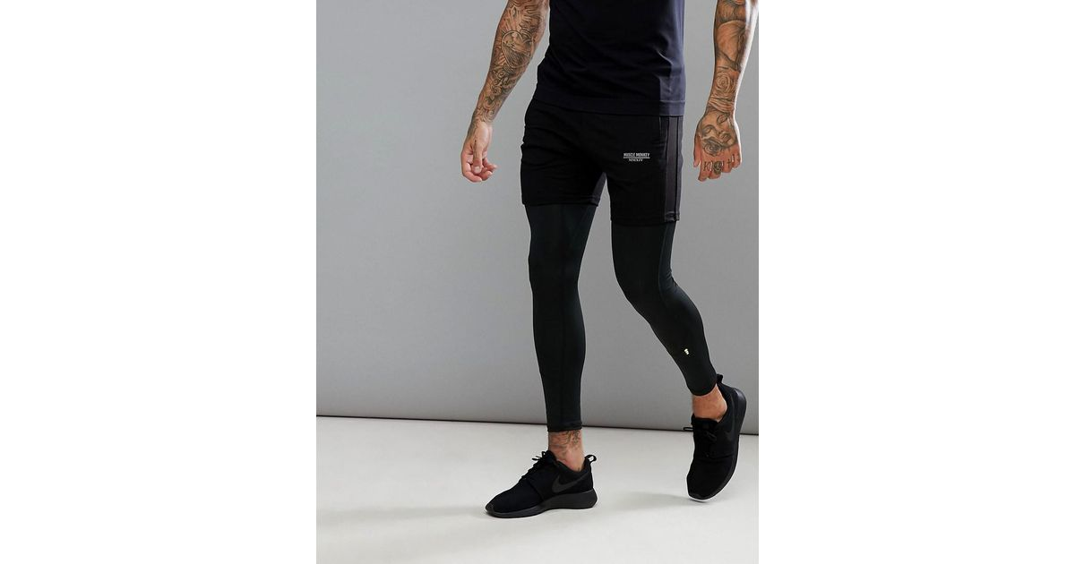 Skinny Shorts In Black - Black Muscle Monkey 0CmFkRW