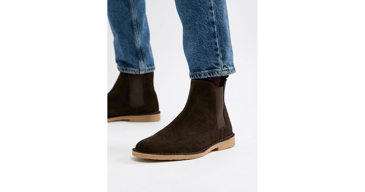 482ffcaf90173f Office Iberian Chelsea Boots In Brown Suede in Brown for Men - Lyst