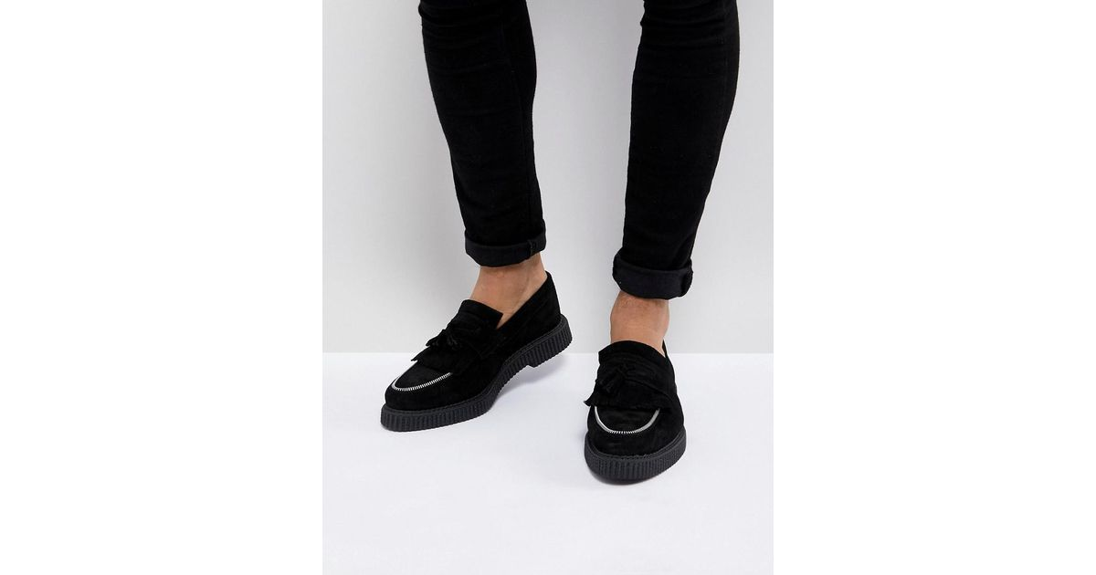 ASOS Creeper Loafers In Black Suede With Zip Detail best store to get online buy cheap 2014 unisex Qan6zOTD