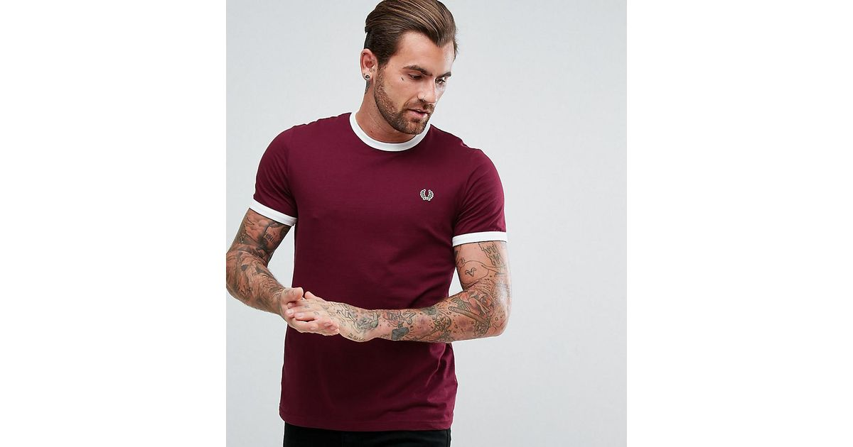 42459e5c Fred Perry Sports Authentic Slim Fit Ringer T-shirt In Purple in Purple for  Men - Lyst