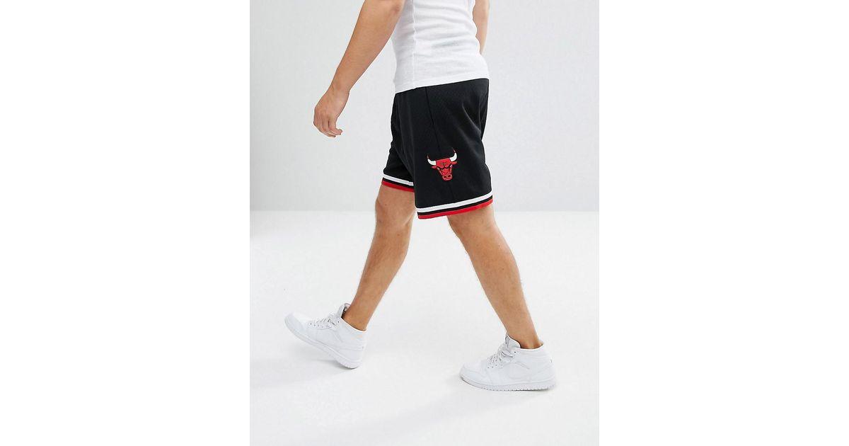 quality design 93652 14943 Mitchell   Ness Nba Chicago Bulls Swingman Shorts in Black for Men - Lyst