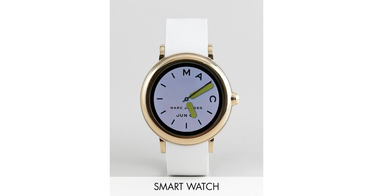 Marc Jacobs Mjt2000 Riley Smart Watch With Touchscreen In White For Men Lyst