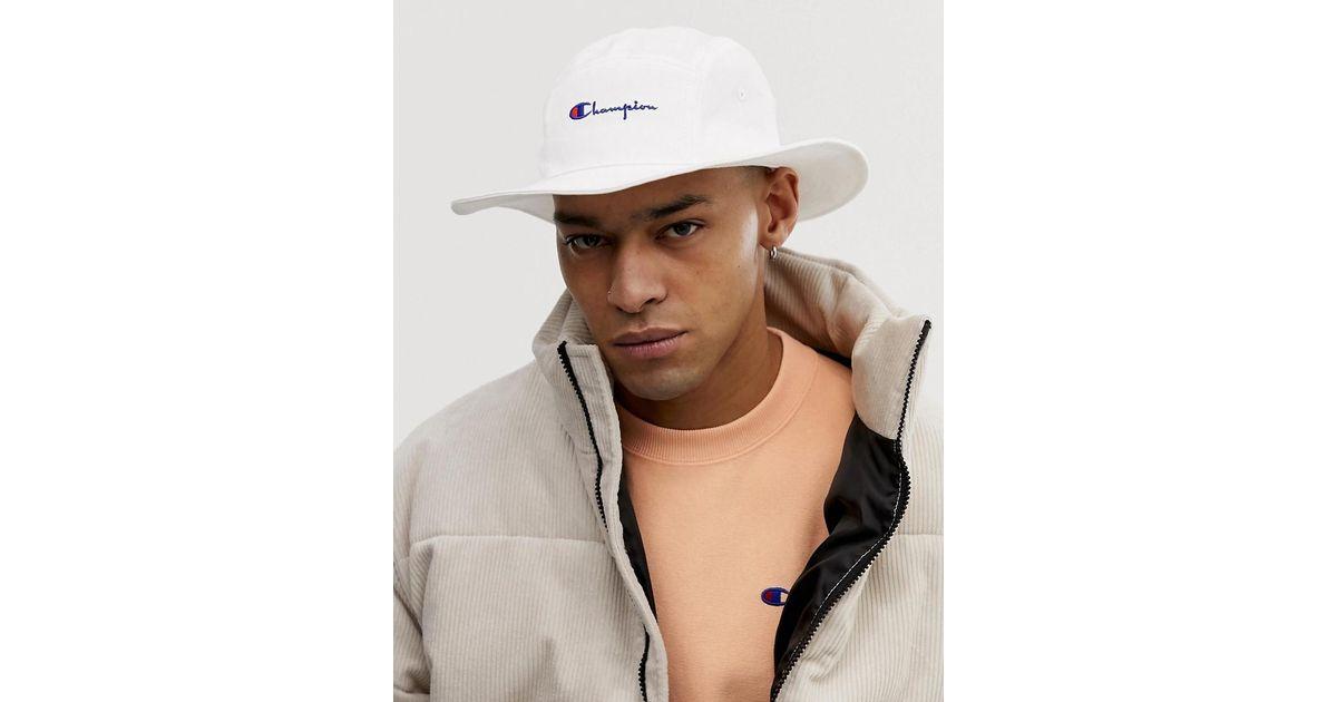 Bons prix conception de la variété nouvelles photos Chapeau à logo style pêcheur - Blanc Champion pour homme en coloris White