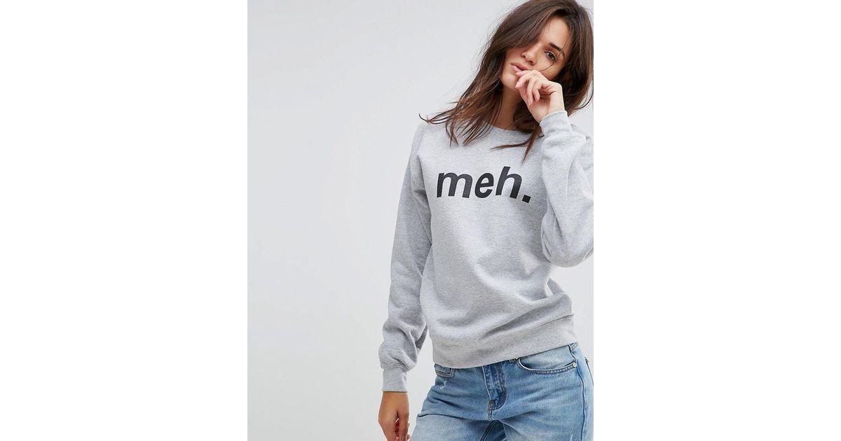b5f1fbb6506 Lyst - Adolescent Clothing Meh Sweatshirt in Gray