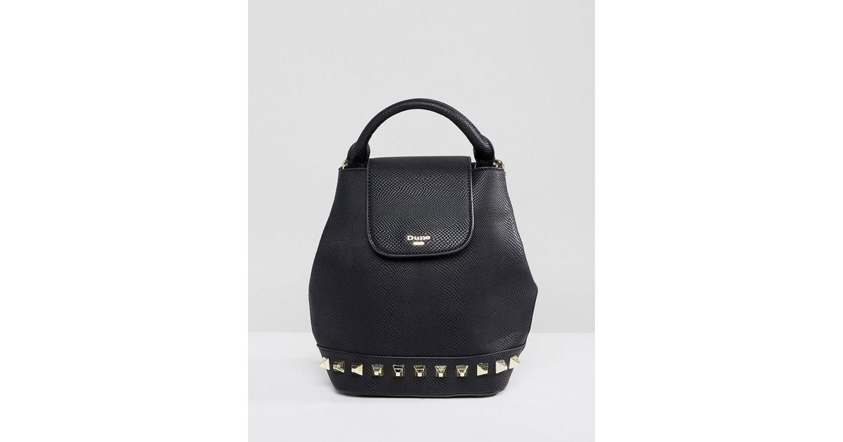 0304a18baac Dune Studded Backpack in Black - Lyst