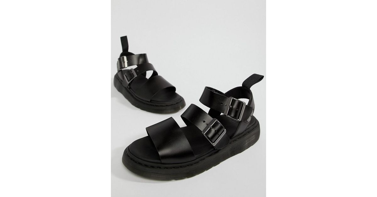 Dr. Martens Black Gryphon Sandals for men