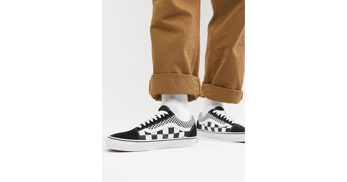 Vans Old Skool Checkerboard Sneakers In Black Vn0a38g1q9b1 in Black for Men  - Lyst 9ee79c10c